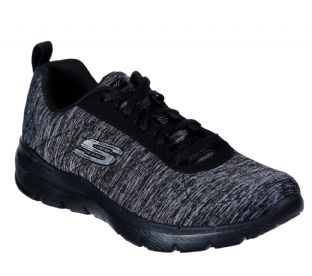 Skechers Womens 13067 BKCC Black Charcoal Flex Appeal 3.0 Insiders Trainers